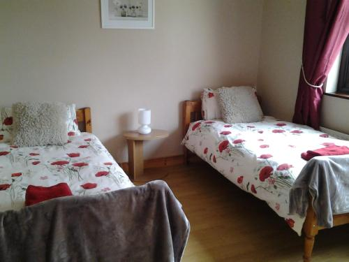 A bed or beds in a room at Corran View