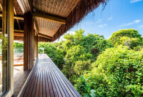 A balcony or terrace at Pool Villas Tivoli Ecoresort