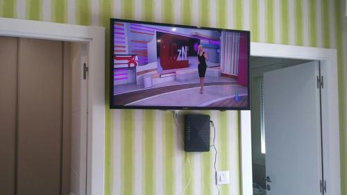 A television and/or entertainment center at Apartamentos Vigo