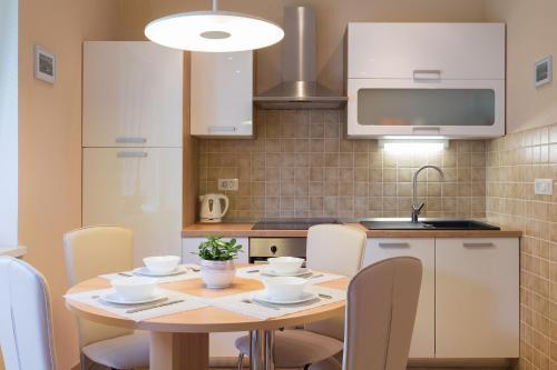 A kitchen or kitchenette at Apartmaji Koman