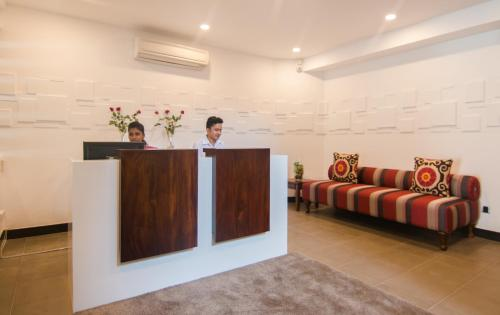 The lobby or reception area at Rococo Residence