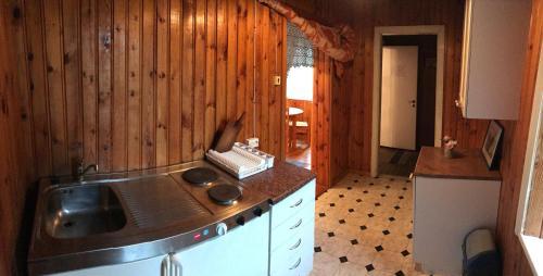 Köök või kööginurk majutusasutuses Allika Hostel