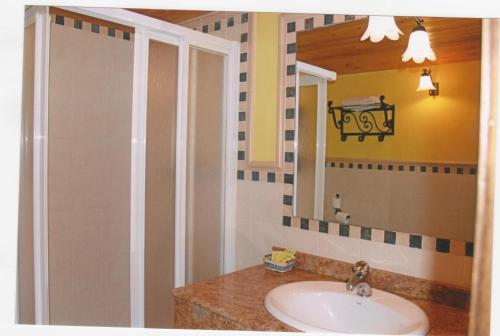 A bathroom at Parada del Carmen