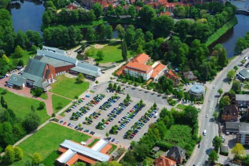 Blick auf Parkhotel Stader Hof aus der Vogelperspektive