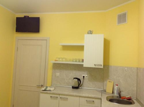 A kitchen or kitchenette at Apartment Zarechye