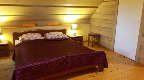 A bed or beds in a room at Ritupes Starki