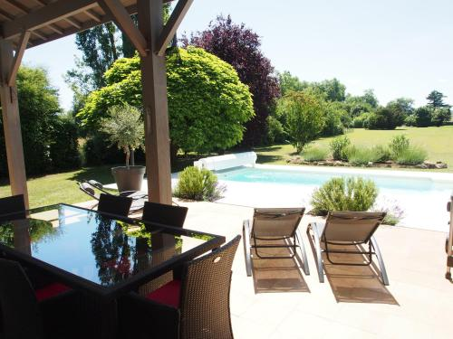 The swimming pool at or near La Villa a Chateau Franc-Daut Sleeps 6