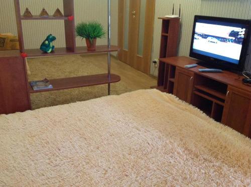 Телевизор и/или развлекательный центр в Apartment on Lyzhnaya 5