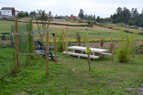 A garden outside Albergue Montoto