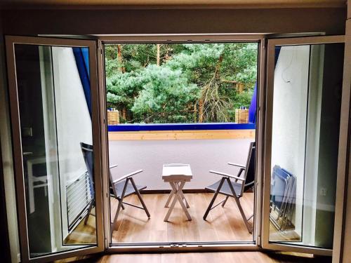 Balkon lub taras w obiekcie Apartamenty Platinum