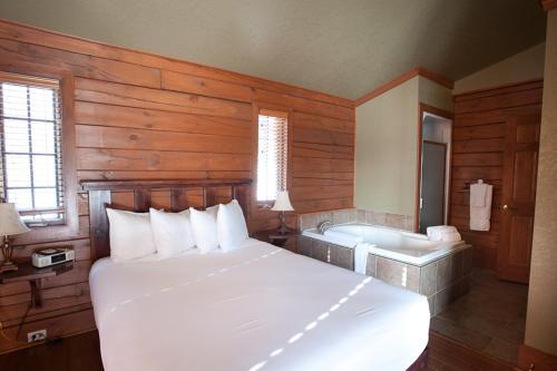 Un ou plusieurs lits dans un hébergement de l'établissement La Bannik