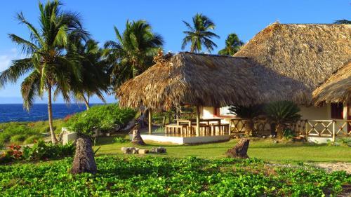 A garden outside Villa Punta Coral