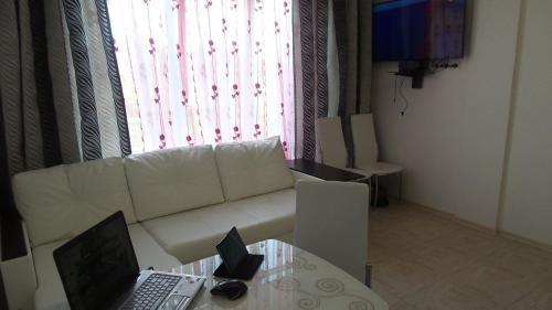 Гостиная зона в SOCHI VIP Apartment Krymskaya 65b
