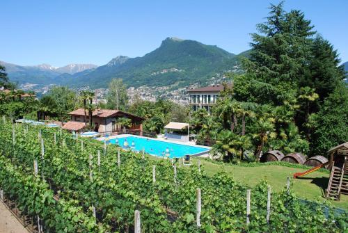 Ein Blick auf den Pool von der Unterkunft Hotel&Hostel Montarina oder aus der Nähe
