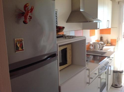 Cuisine ou kitchenette dans l'établissement Le Cap