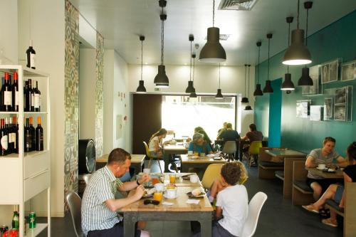A restaurant or other place to eat at Moon Hill Hostel