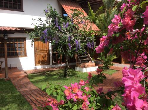 A garden outside Hotel Cabinas Tropical