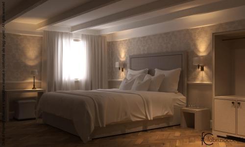 Letto o letti in una camera di Hotel Bartolomeo