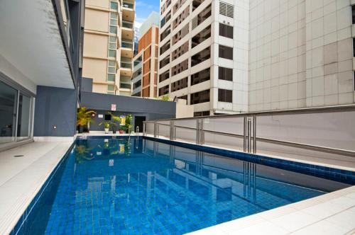 The swimming pool at or near Astra Apartments Sydney