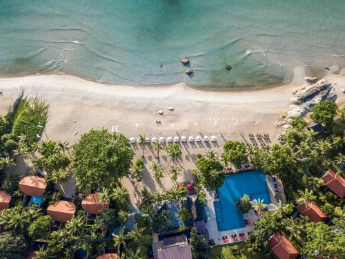 Et luftfoto af New Star Beach Resort