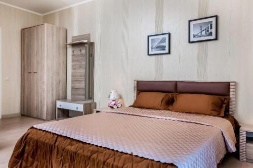 Кровать или кровати в номере Karlovy Klyuchi