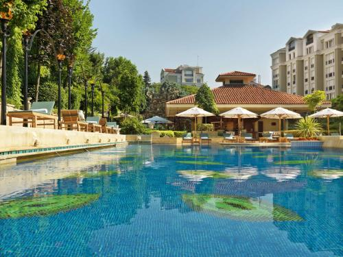 The swimming pool at or near Grand Hyatt Istanbul