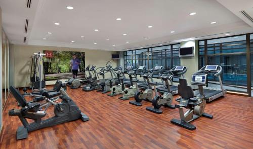 The fitness center and/or fitness facilities at Hyatt Regency Thessaloniki