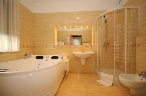 Łazienka w obiekcie Hotel Salamandra