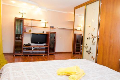 Телевизор и/или развлекательный центр в RENT-сервис Apartment Irtyshskaya Naberezhnaya 29