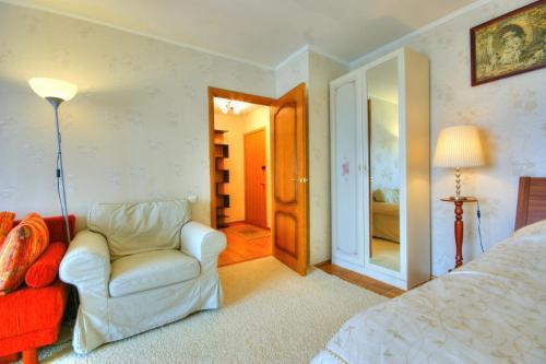 Гостиная зона в Apartment on Shipilovsky Proezd 69
