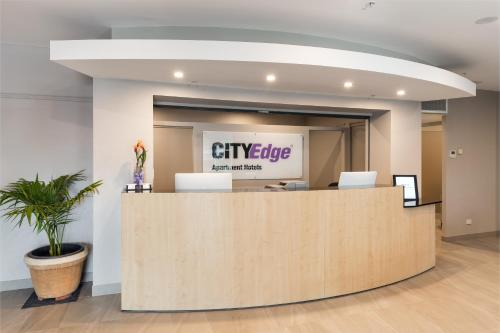 The lobby or reception area at City Edge Dandenong Apartment Hotel