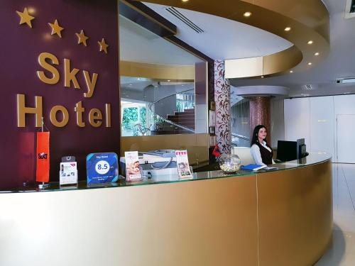 The lobby or reception area at Sky Hotel