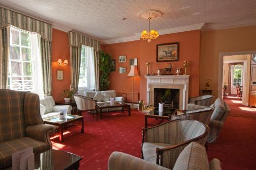 A seating area at Corse Lawn House Hotel