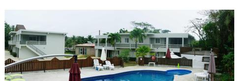A view of the pool at Karis Pool Villa On Saipan or nearby