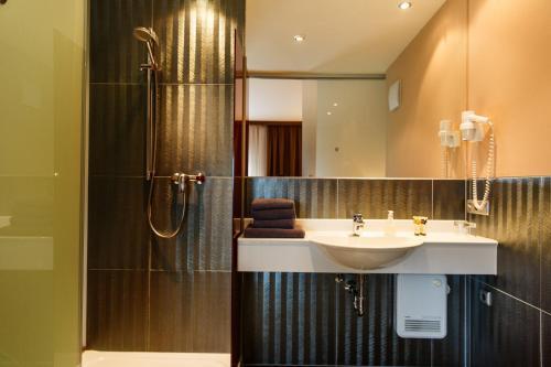 A bathroom at Hotel Salzburg