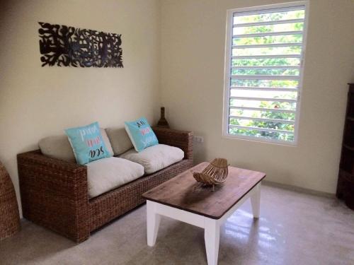 Uma área de estar em Apartment Azulita Resort