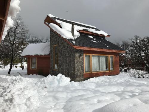 Cabañas Alto Cordillera during the winter