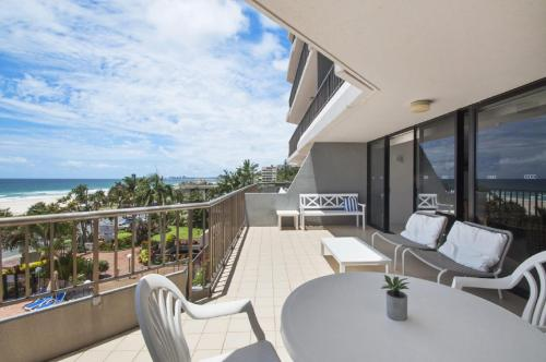 A balcony or terrace at THE ROCKS RESORT, UNIT 3C