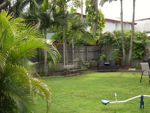 A garden outside Paradise Motel