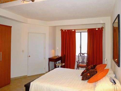 Cama o camas de una habitación en Casa Alegria