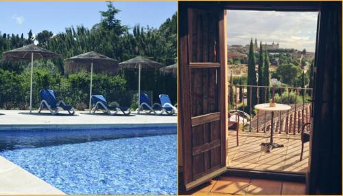 The swimming pool at or near Cigarral de Caravantes