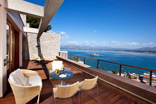 A balcony or terrace at Nafplia Palace Hotel & Villas