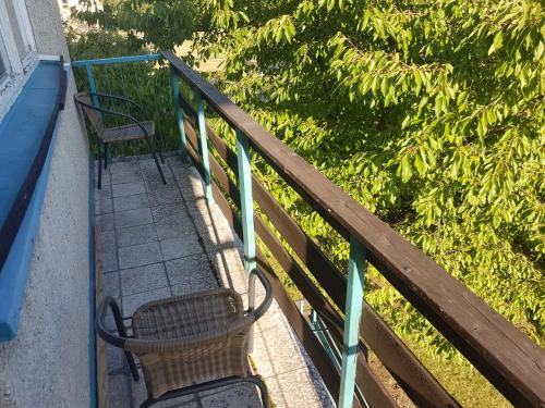 Balkón alebo terasa v ubytovaní Apartmány u skanzenu