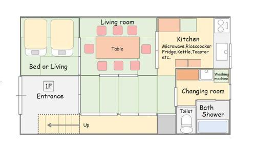 The floor plan of Yoshimura