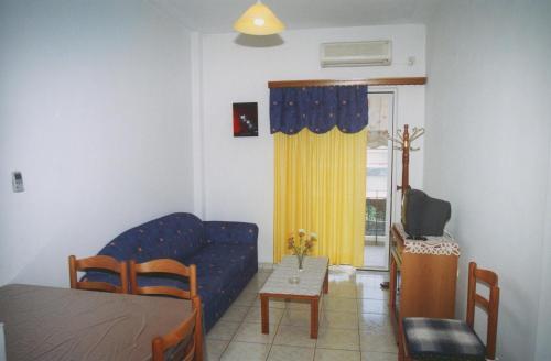 Prostor za sedenje u objektu Helios&Thalassa Rooms