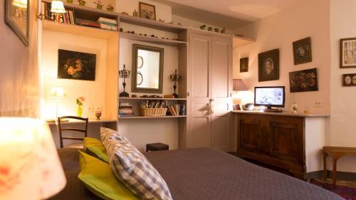 Un ou plusieurs lits dans un hébergement de l'établissement La Cordière