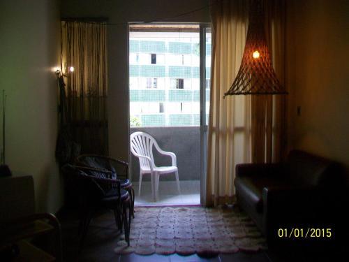 A seating area at Apartamento Edificio Mirage