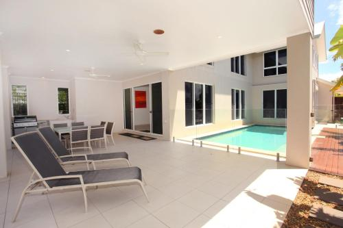 The swimming pool at or near 60 Beachway Parade, Marcoola, 500 BOND, Linen supplied