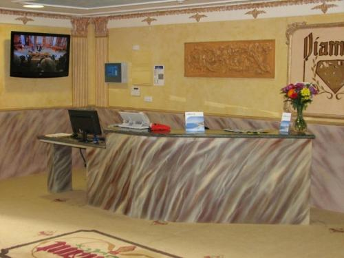 The lobby or reception area at Aparthotel Diamant Blue