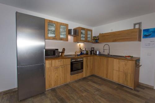 Küche/Küchenzeile in der Unterkunft Villa Schwarbylon
